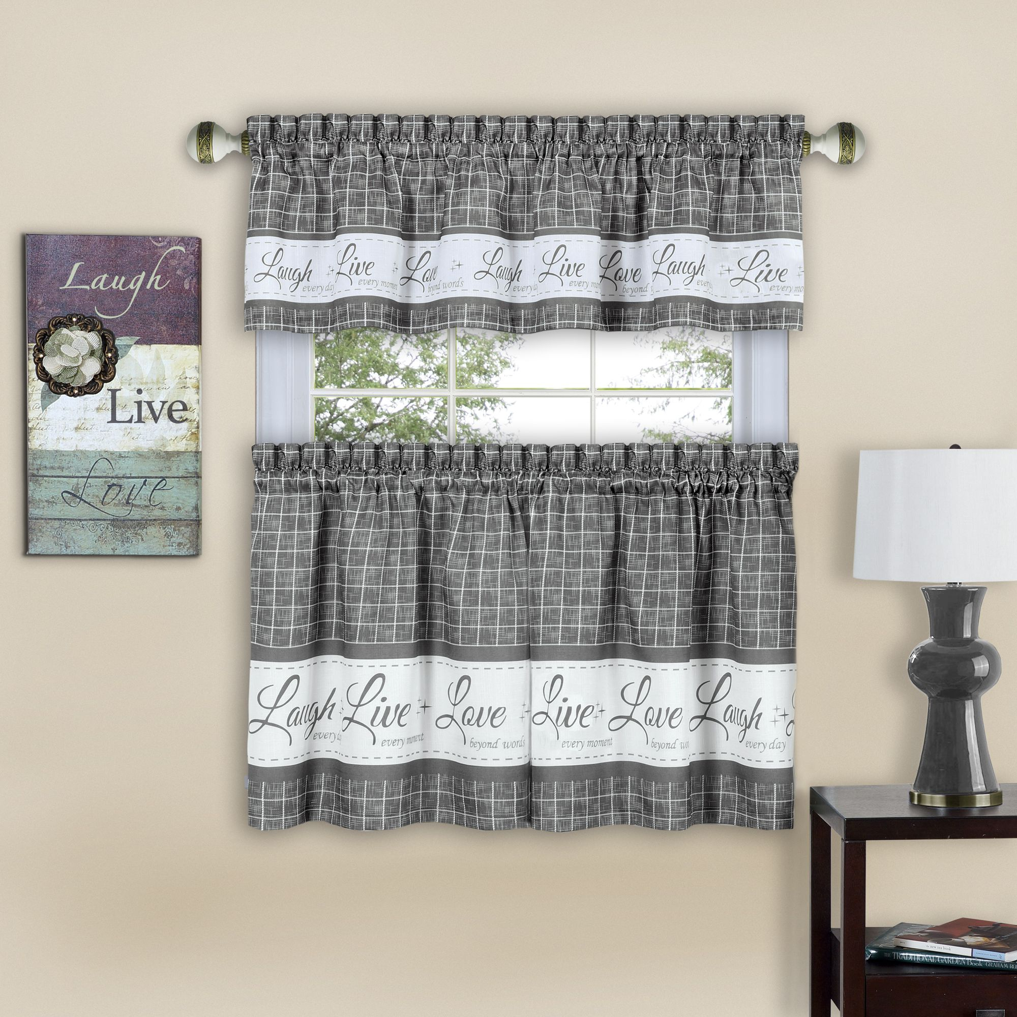 Home In 2019 | Kitchen Curtain Sets, Curtains, Kitchen With Forest Valance And Tier Pair Curtains (View 13 of 20)