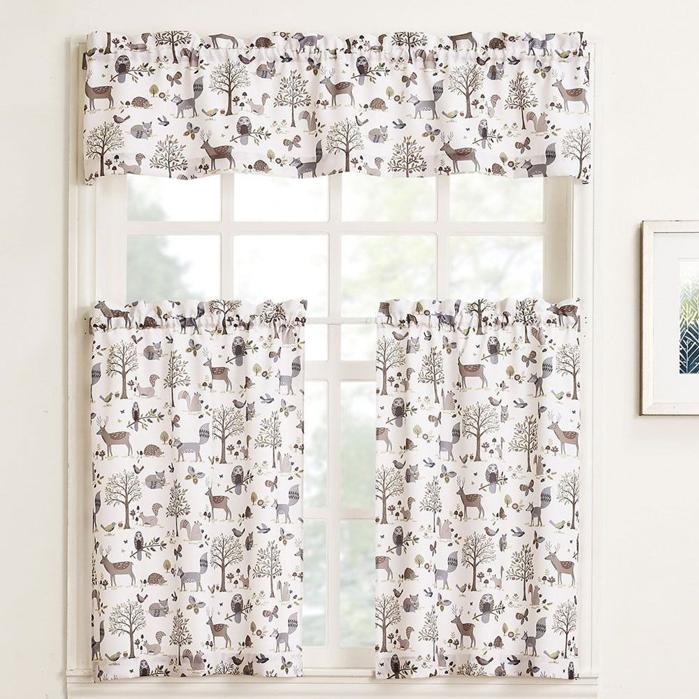 Hoot Tier And Valance | Products | Kitchen Curtains, Kitchen Inside Cottage Ivy Curtain Tiers (View 14 of 20)