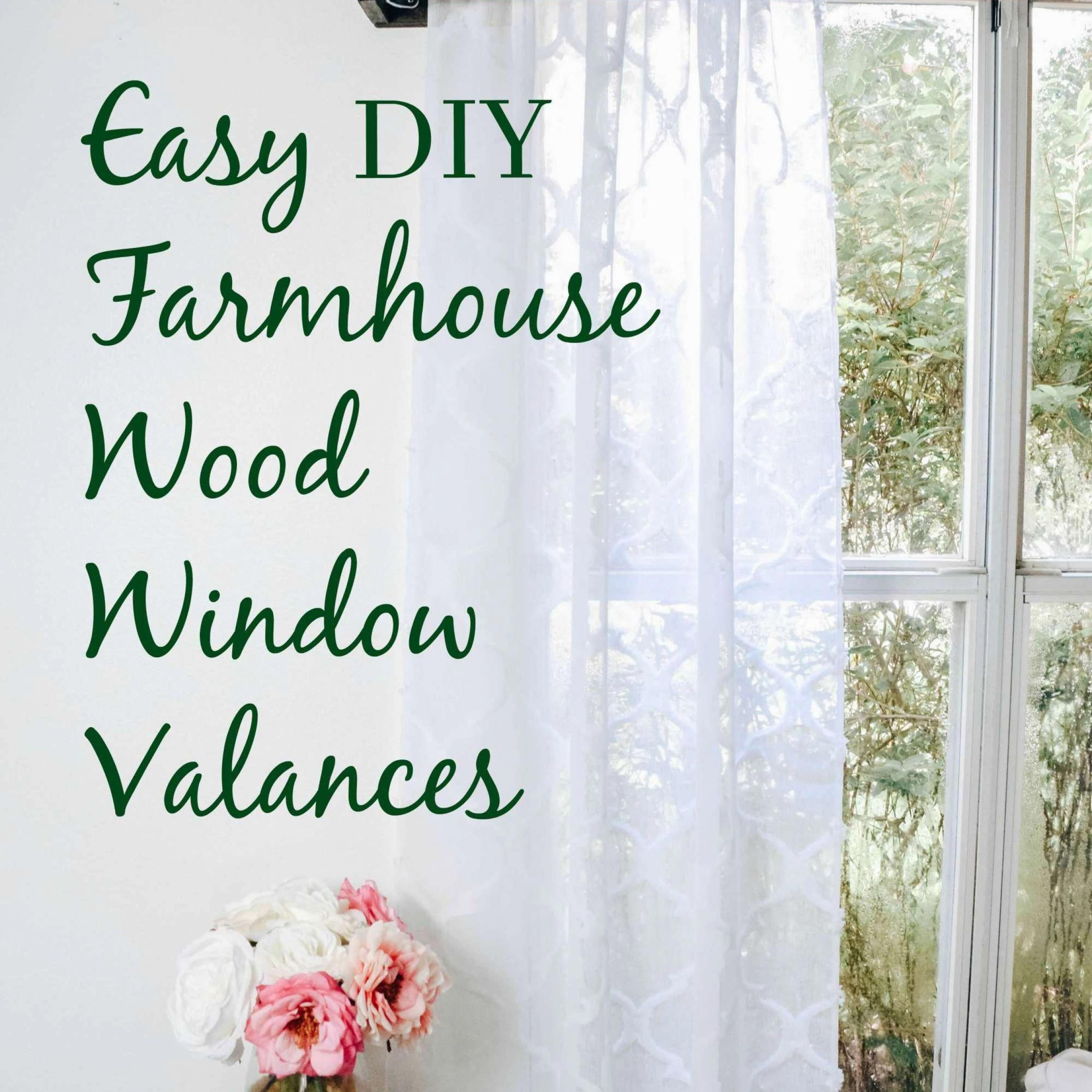 How To Make Your Own Wood Window Valence With Curtains For Micro Striped Semi Sheer Window Curtain Pieces (View 9 of 20)