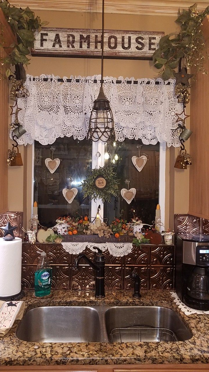 I Love My New Kitchen Curtains I Made From Doilies With Regard To Primitive Kitchen Curtains (View 1 of 20)