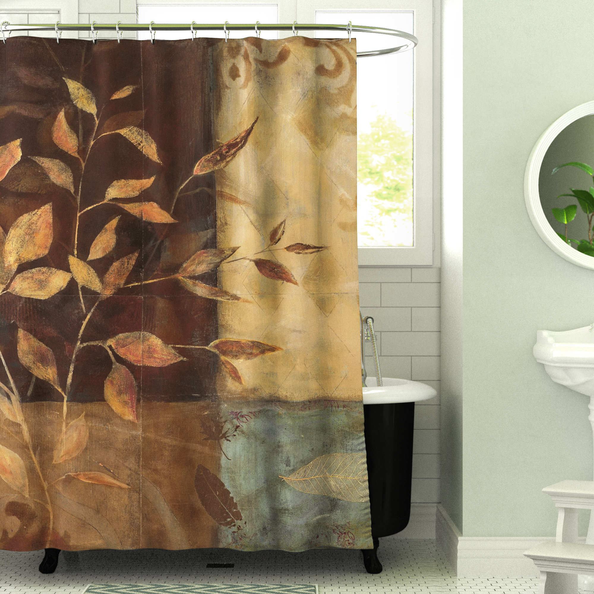 Ideas Curtain Farm Arch Treatments Style Bathroom Popular In Circle Curtain Valances (View 9 of 20)
