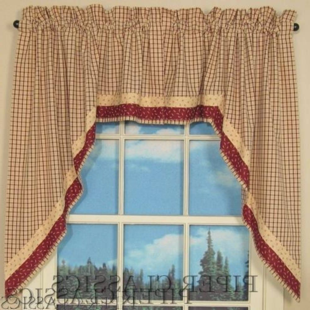 Image Result For Priscilla Style Swag Curtains Primitive With Primitive Kitchen Curtains (View 16 of 20)