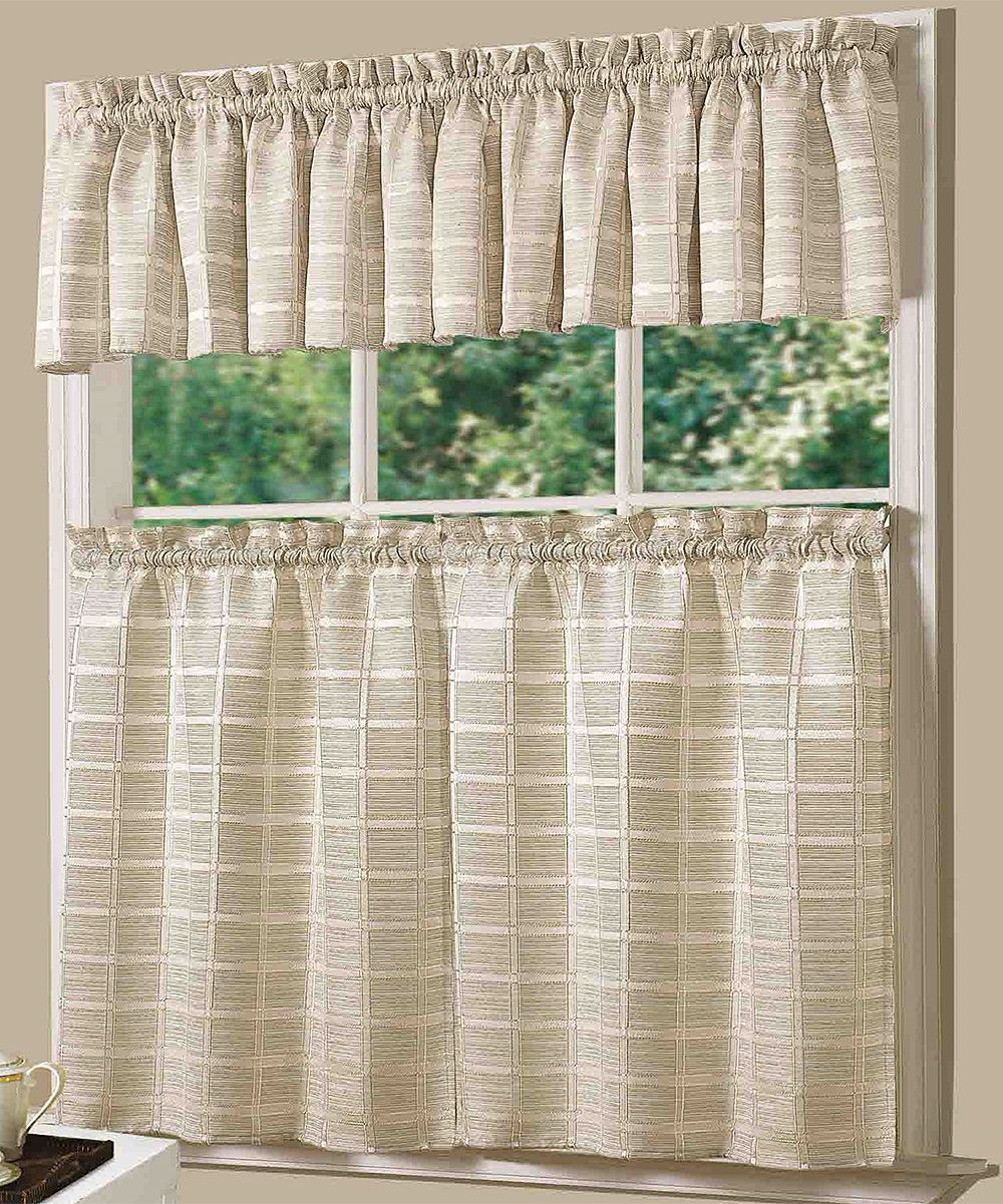 Ivory Jeanette Curtain Panel & Valance Set | Products Intended For French Vanilla Country Style Curtain Parts With White Daisy Lace Accent (View 13 of 20)