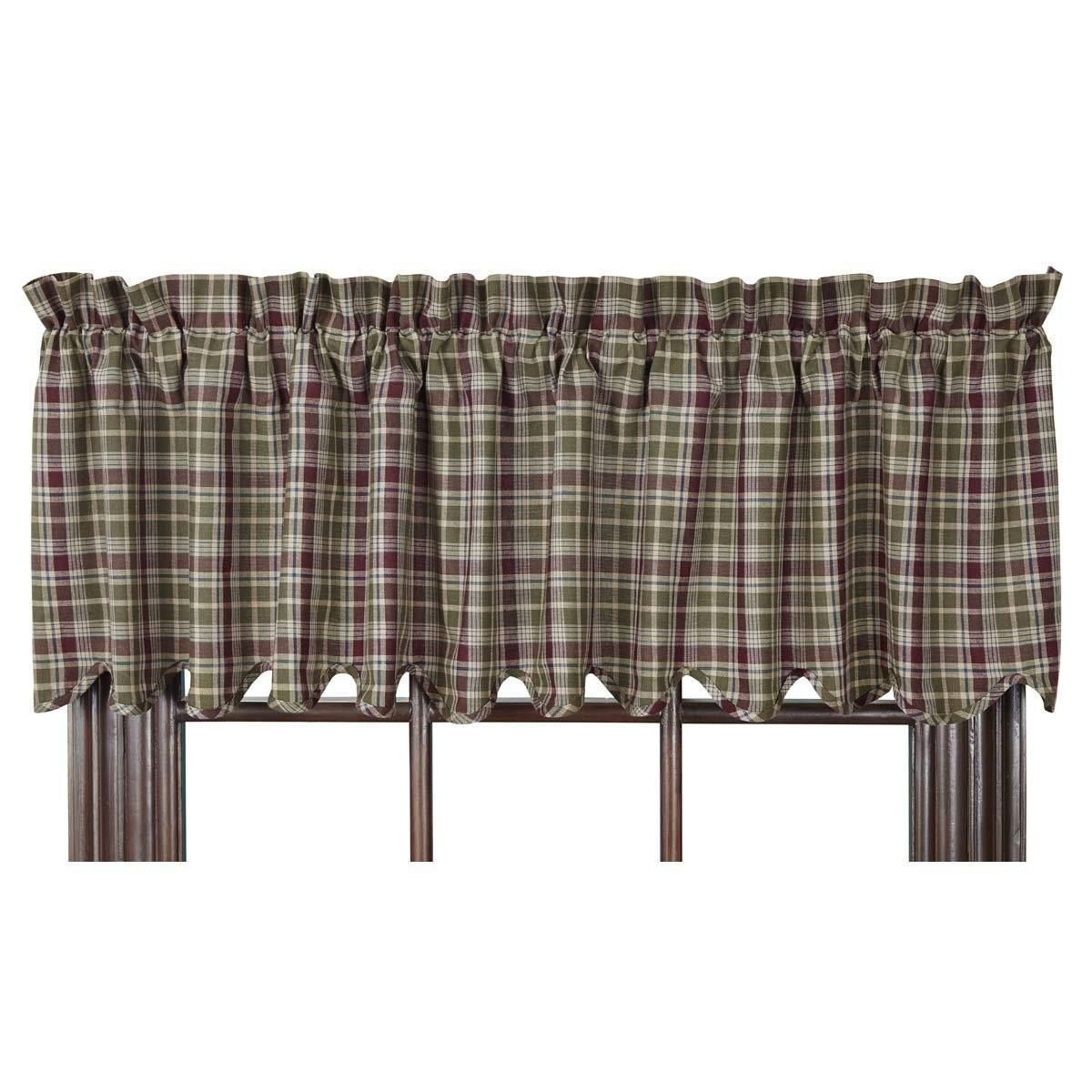 Jackson Valance | Primitive Home Decor | Curtains, Valance Inside Bermuda Ruffle Kitchen Curtain Tier Sets (View 20 of 20)