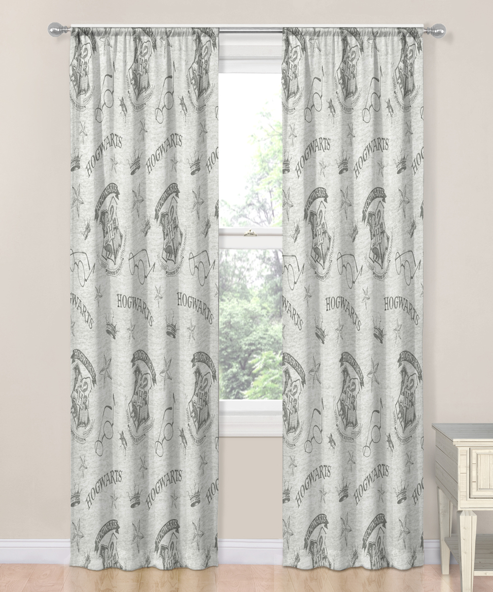 Jay Franco And Sons Harry Potter Spellbound 84'' Curtain Panel – Set Of Two With Regard To Grandin Curtain Valances In Black (View 9 of 20)