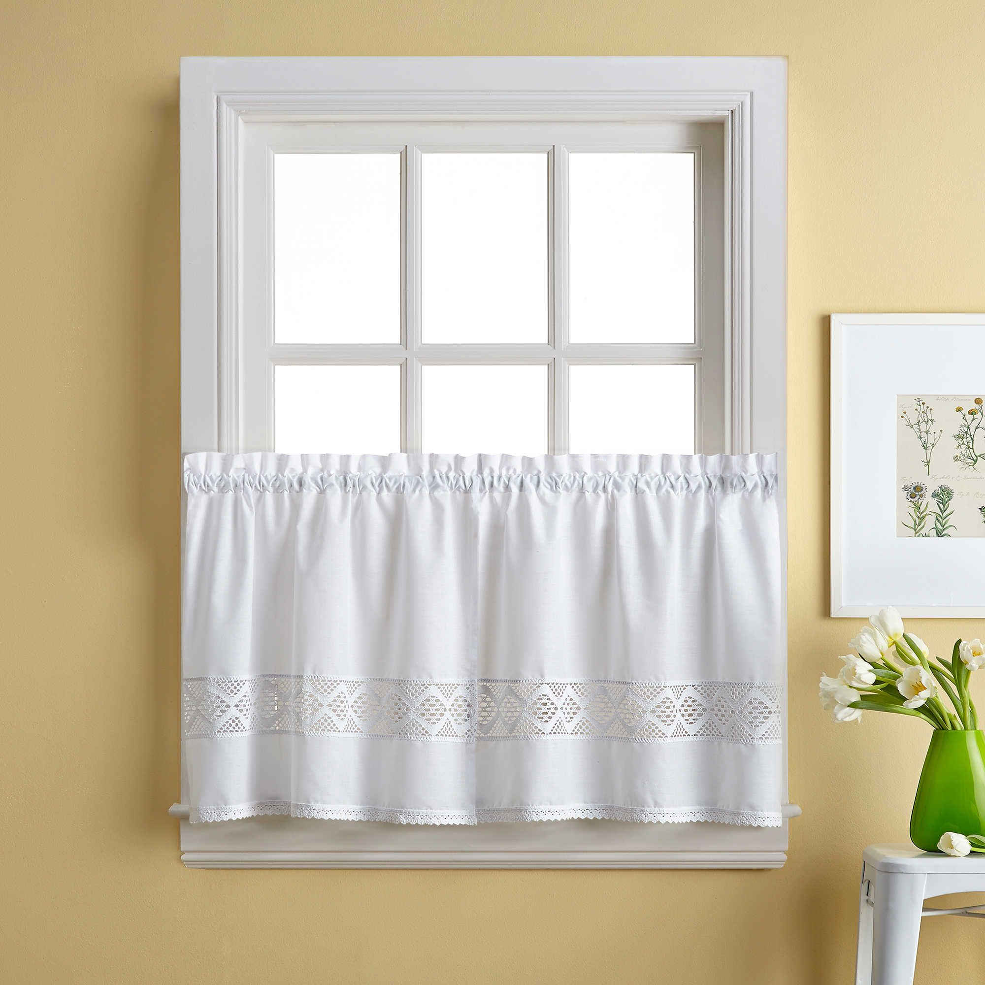 Kendra Window Curtain Tier Pair | Lisa And Roger | Window In Chic Sheer Voile Vertical Ruffled Window Curtain Tiers (View 15 of 20)