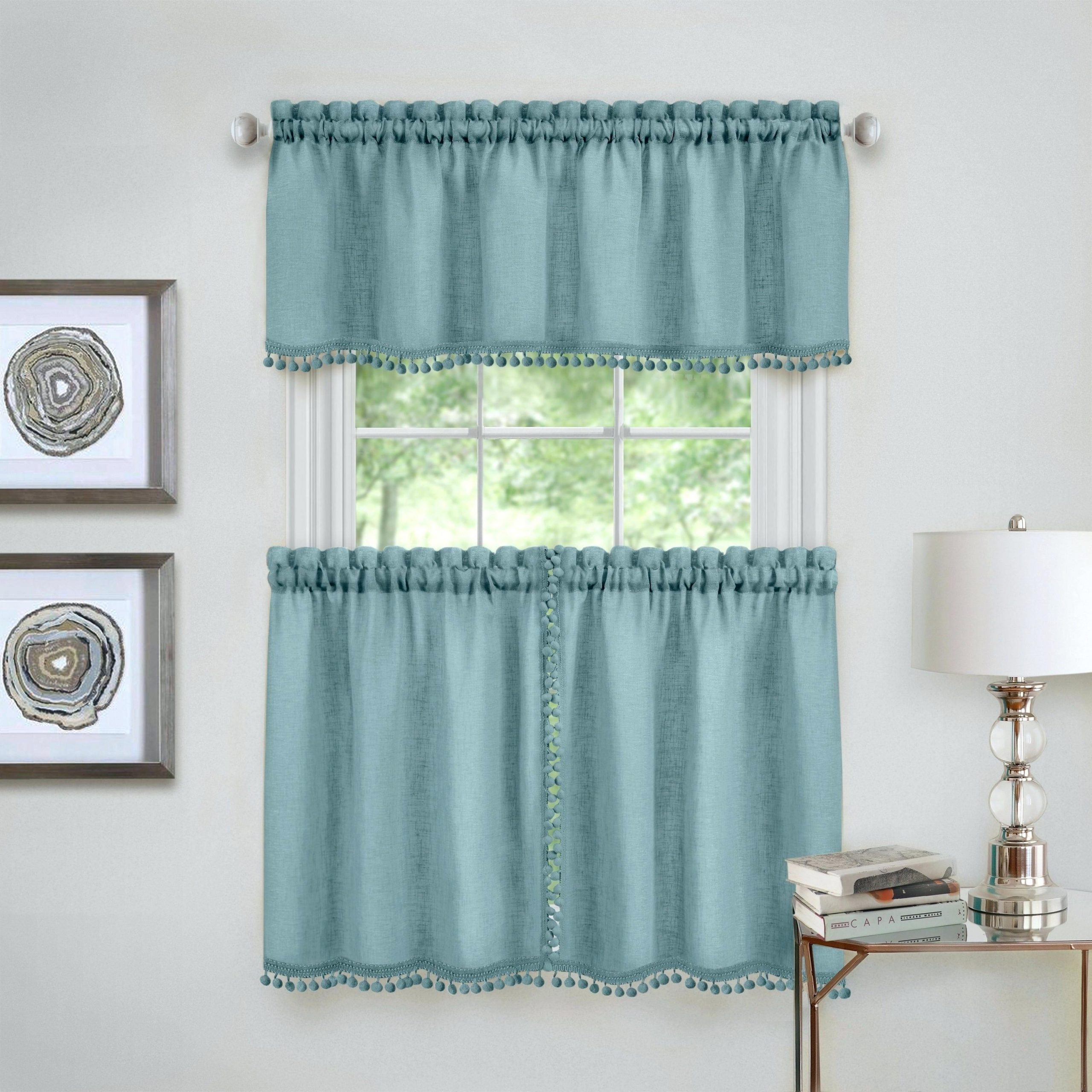 Kitchen Curtain Sets – Kreden.co Within Kitchen Window Tier Sets (Gallery 10 of 20)