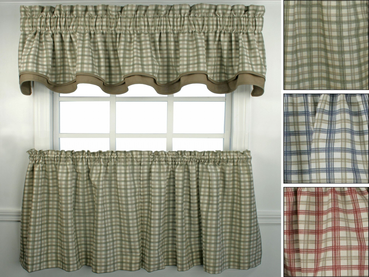 Kitchen Curtains Primitive Plaid Country Decorating Ideas Within Primitive Kitchen Curtains (View 20 of 20)