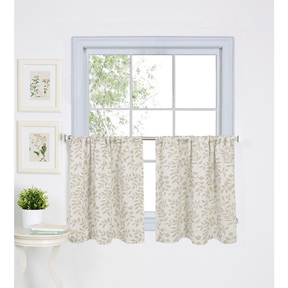 Kitchen Window Tier – Martinique In Hudson Pintuck Window Curtain Valances (Gallery 17 of 20)