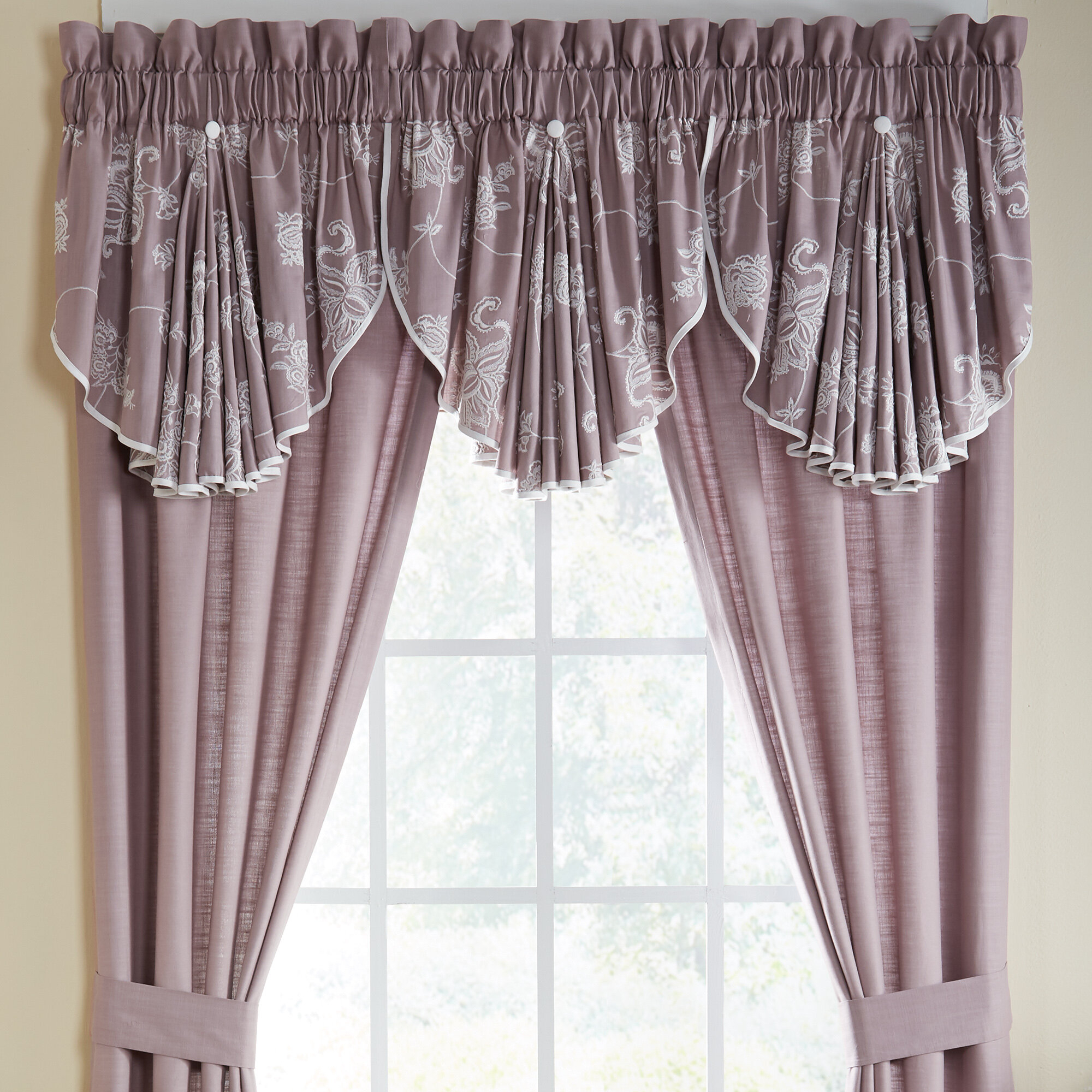 "Liliana Circle 42"" Window Valance In Circle Curtain Valances (View 10 of 20)"