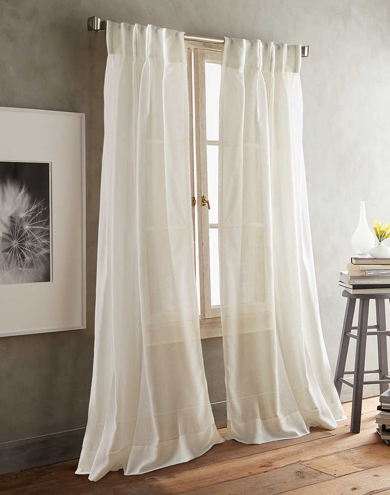Link Id Brand Title Description Image Link Price Category Intended For Ivory Micro Striped Semi Sheer Window Curtain Pieces (View 16 of 20)