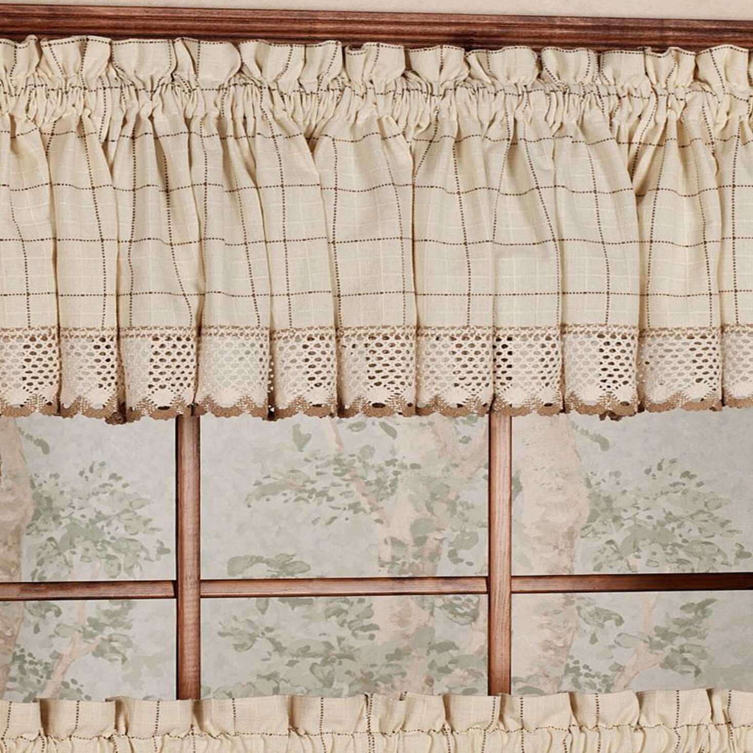 Loon Peak Burrigan Curtain Tier, Valance And Swag Set Throughout Cotton Lace 5 Piece Window Tier And Swag Sets (View 17 of 20)