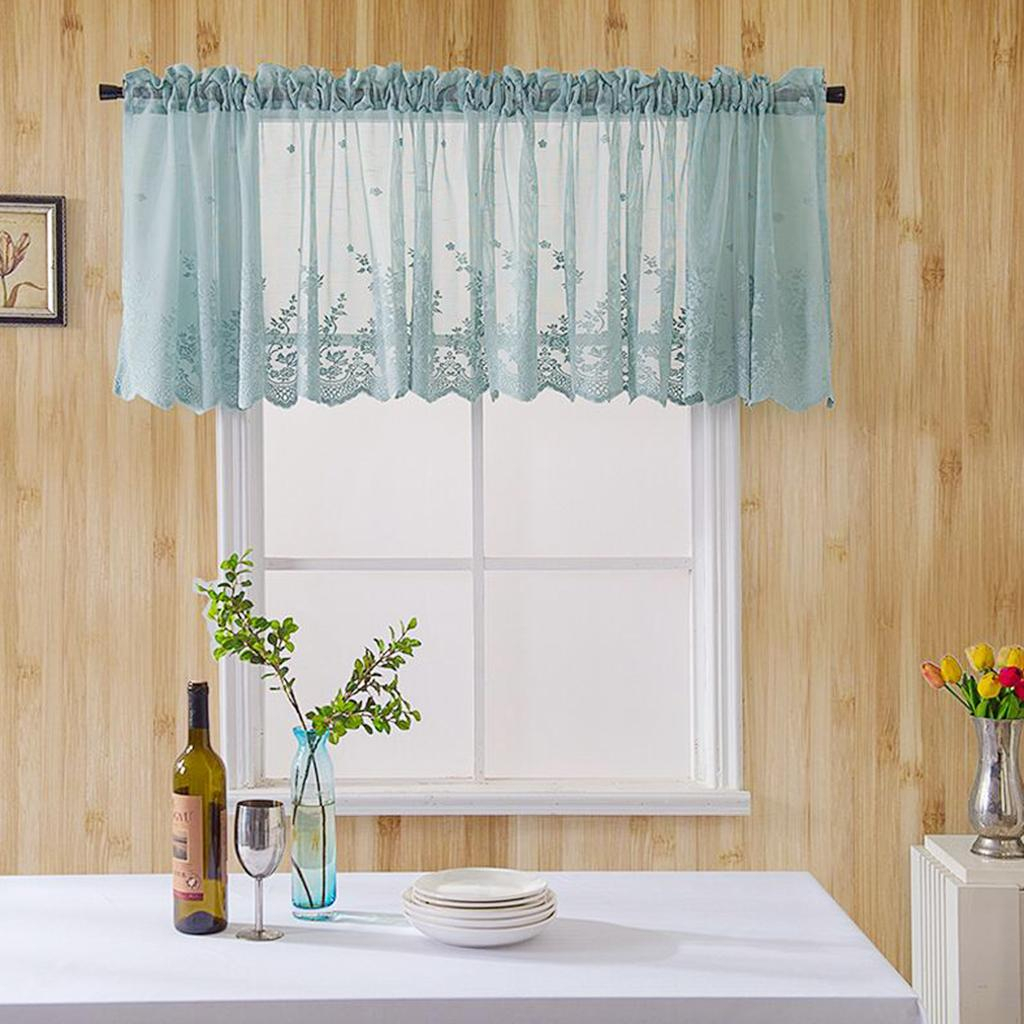 Loviver Embroidered Elegant Voile Sheer Kitchen Cafe Privacy Window Tiers Curtains Within Coffee Drinks Embroidered Window Valances And Tiers (View 11 of 20)
