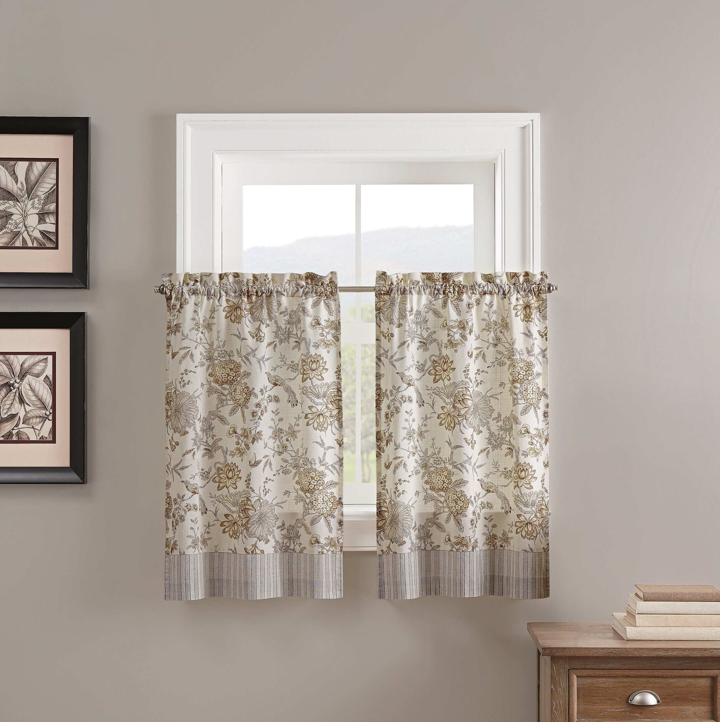 Lucchese Kitchen Curtain Regarding Waverly Kensington Bloom Window Tier Pairs (View 12 of 20)