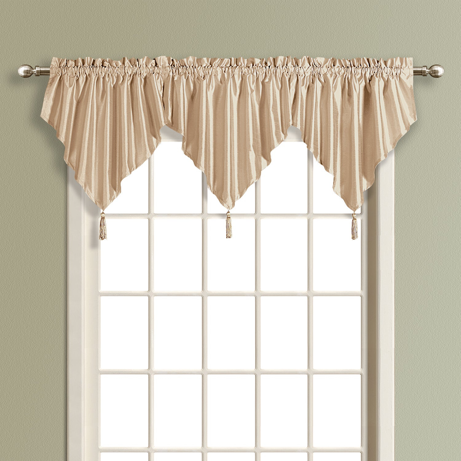 Luxury Collection Anna Light Filtering Ascot Valance Intended For Luxury Light Filtering Straight Curtain Valances (View 6 of 20)