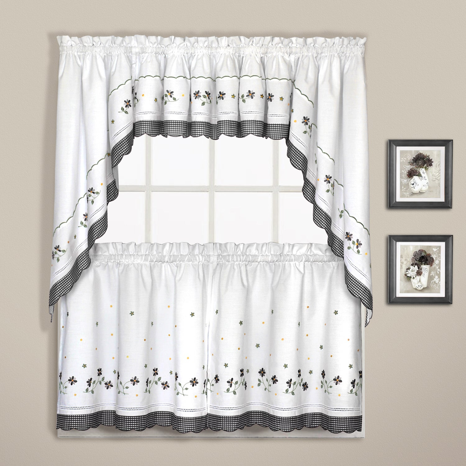 Luxury Collection Gingham Light Filtering Straight Valance Within Luxury Light Filtering Straight Curtain Valances (View 2 of 20)