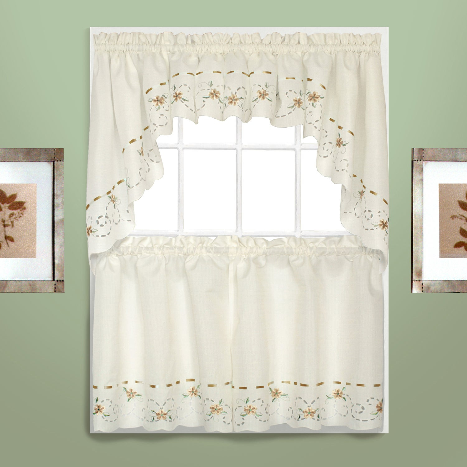 Featured Photo of Embroidered Rod Pocket Kitchen Tiers