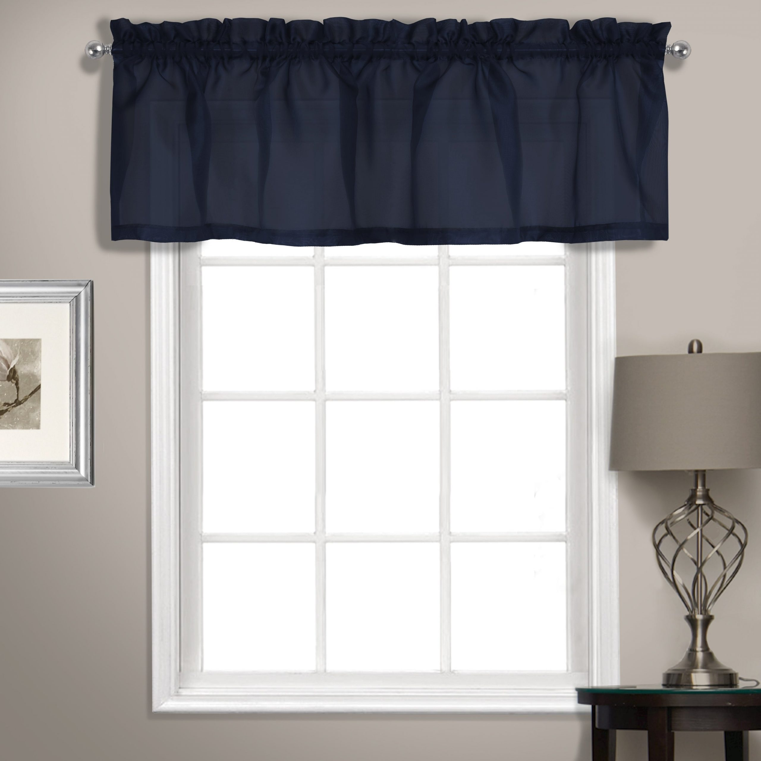 Luxury Collection Summit Sheer Straight Valance Intended For Luxury Light Filtering Straight Curtain Valances (View 3 of 20)