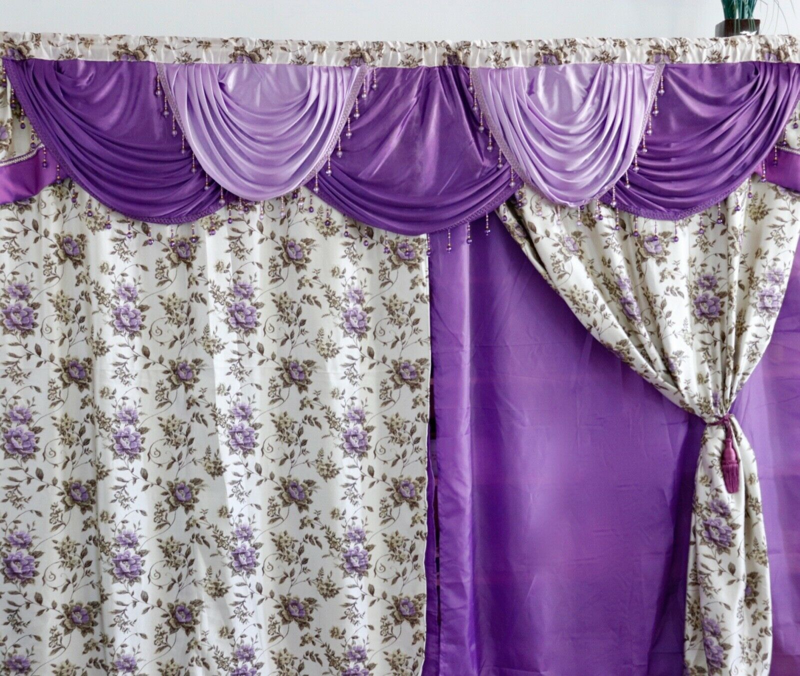 Luxury Größe Curtain Panel Window Floral Jacquard Super With Regard To Luxury Light Filtering Straight Curtain Valances (View 12 of 20)