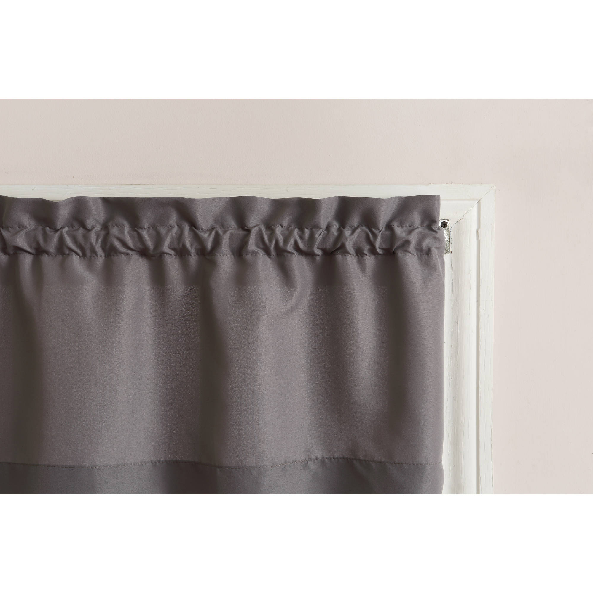 Mainstays Solid 3 Piece Kitchen Curtain Tier And Valance Set With Regard To Solid Microfiber 3 Piece Kitchen Curtain Valance And Tiers Sets (View 7 of 20)