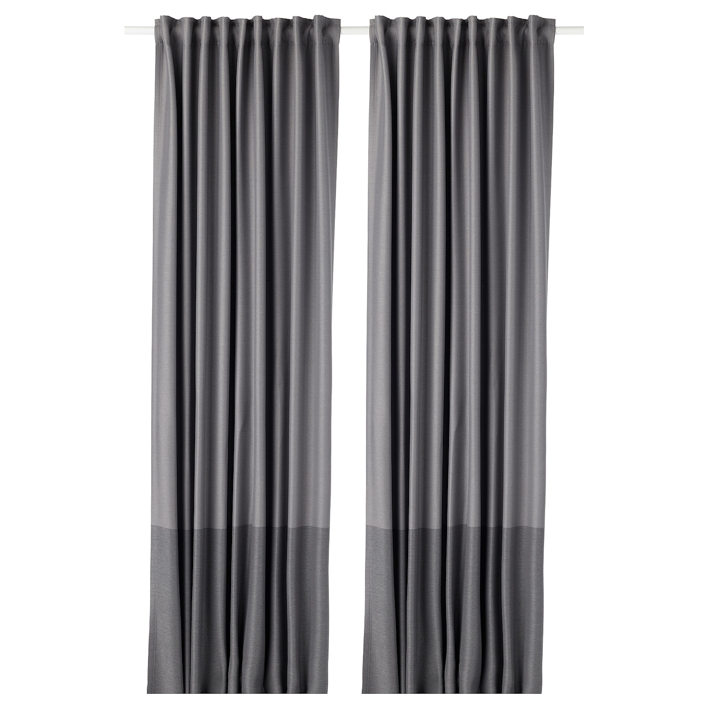 Marjun Blackout Curtains, 1 Pair, Gray In Glasgow Curtain Tier Sets (View 19 of 20)