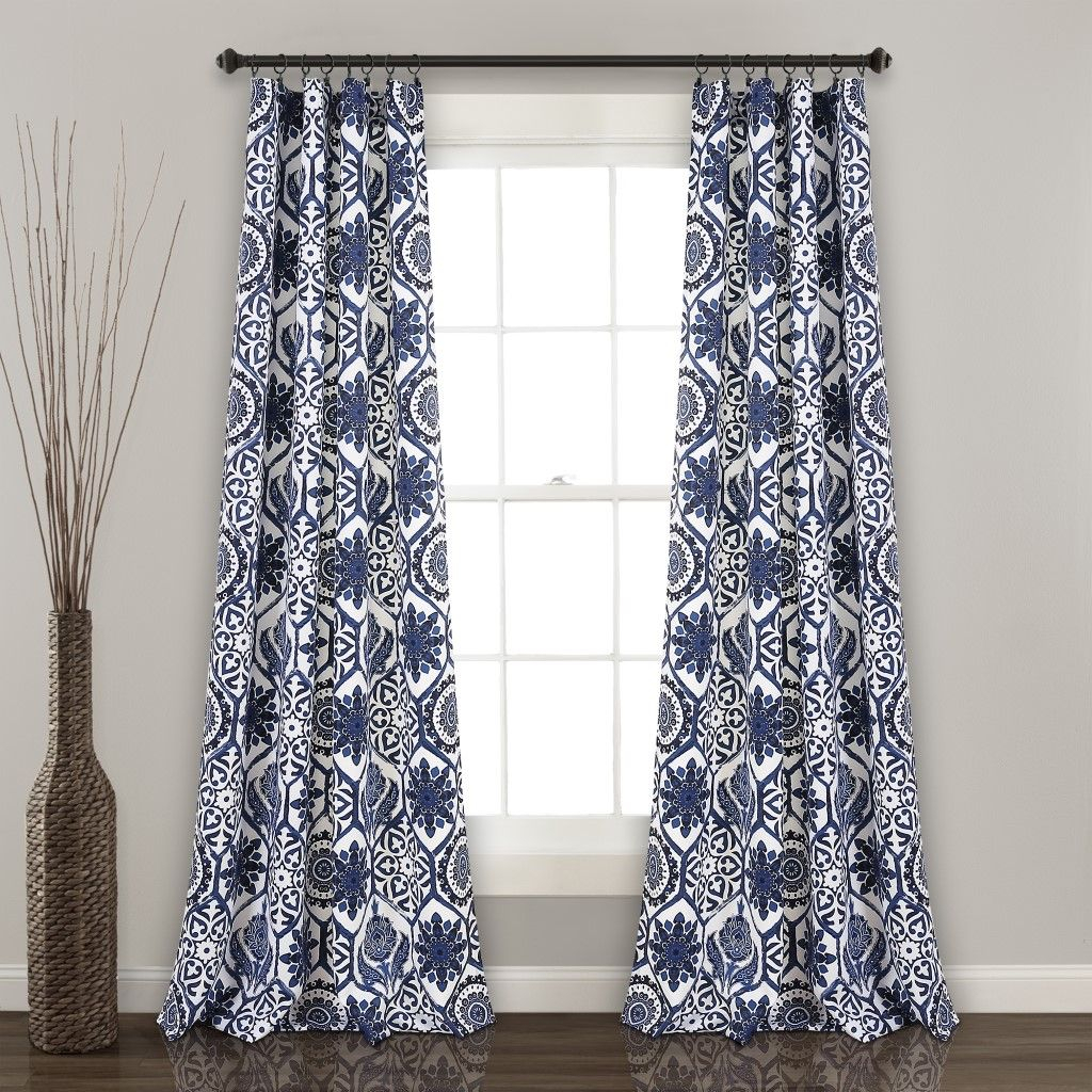 Marvel Room Darkening Window Curtain Panels Navy 52x84 Set For Floral Blossom Ink Painting Thermal Room Darkening Kitchen Tier Pairs (View 14 of 20)