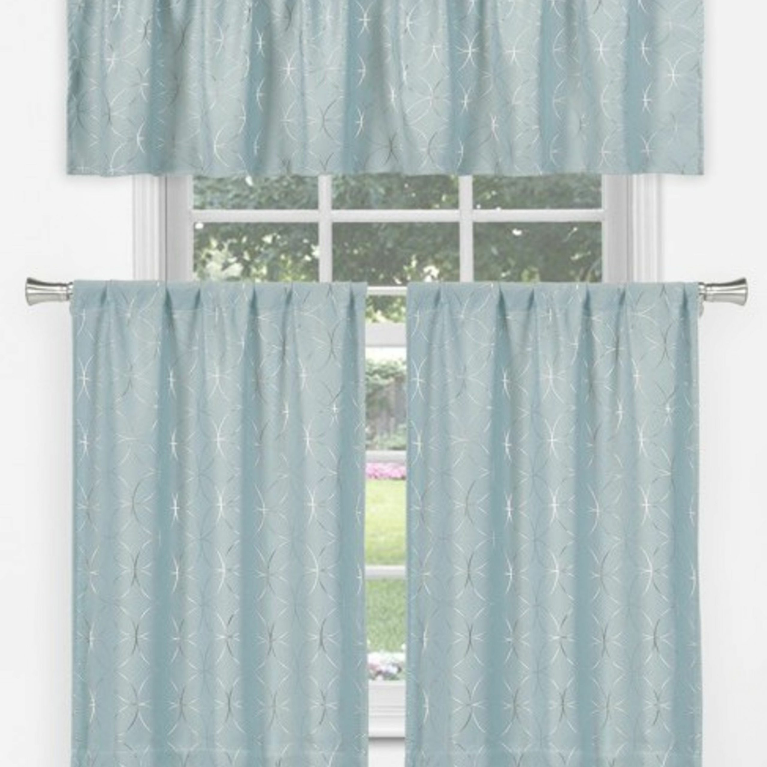Messier Tier 3 Piece Curtain Set With Spring Daisy Tiered Curtain 3 Piece Sets (View 15 of 20)