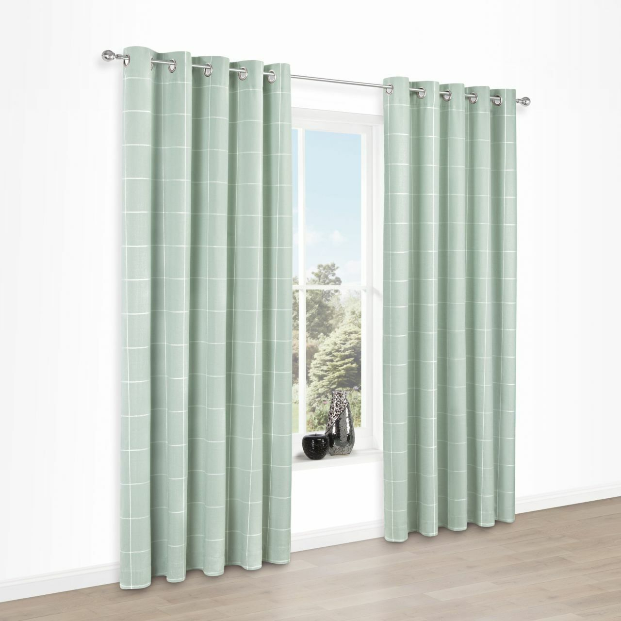 Mint Green Curtains – V9oj For Modern Subtle Texture Solid White Kitchen Curtain Parts With Grommets Tier And Valance Options (View 17 of 20)