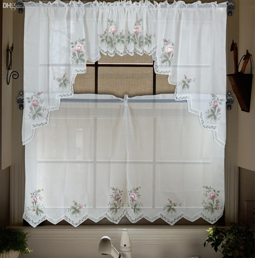 Modern Kitchen Curtains Styles Modern Kitchen Good Curtains For Coffee Embroidered Kitchen Curtain Tier Sets (View 13 of 20)