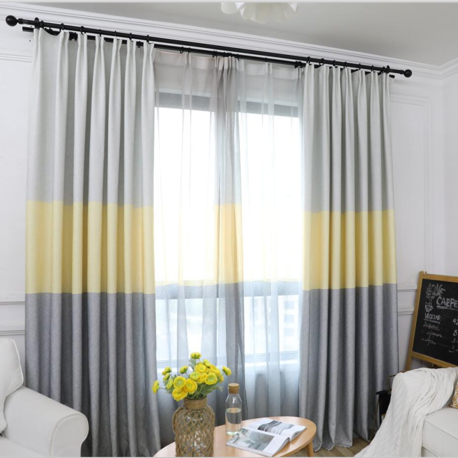 Modern Striped Window Tulle Curtains For Living Room Yellow Voile Sheer Curtains For Bedroom Kids Cortina Blind Custom Su406 *30 With Regard To Traditional Tailored Window Curtains With Embroidered Yellow Sunflowers (View 13 of 20)
