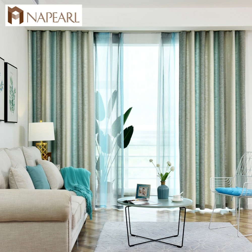 Napearl Colorful Striped Line Bedroom Cloth Curtains Polyester Fabric Shading Drop Drapes High Quality Classic Stitching Panels For Micro Striped Semi Sheer Window Curtain Pieces (View 18 of 20)