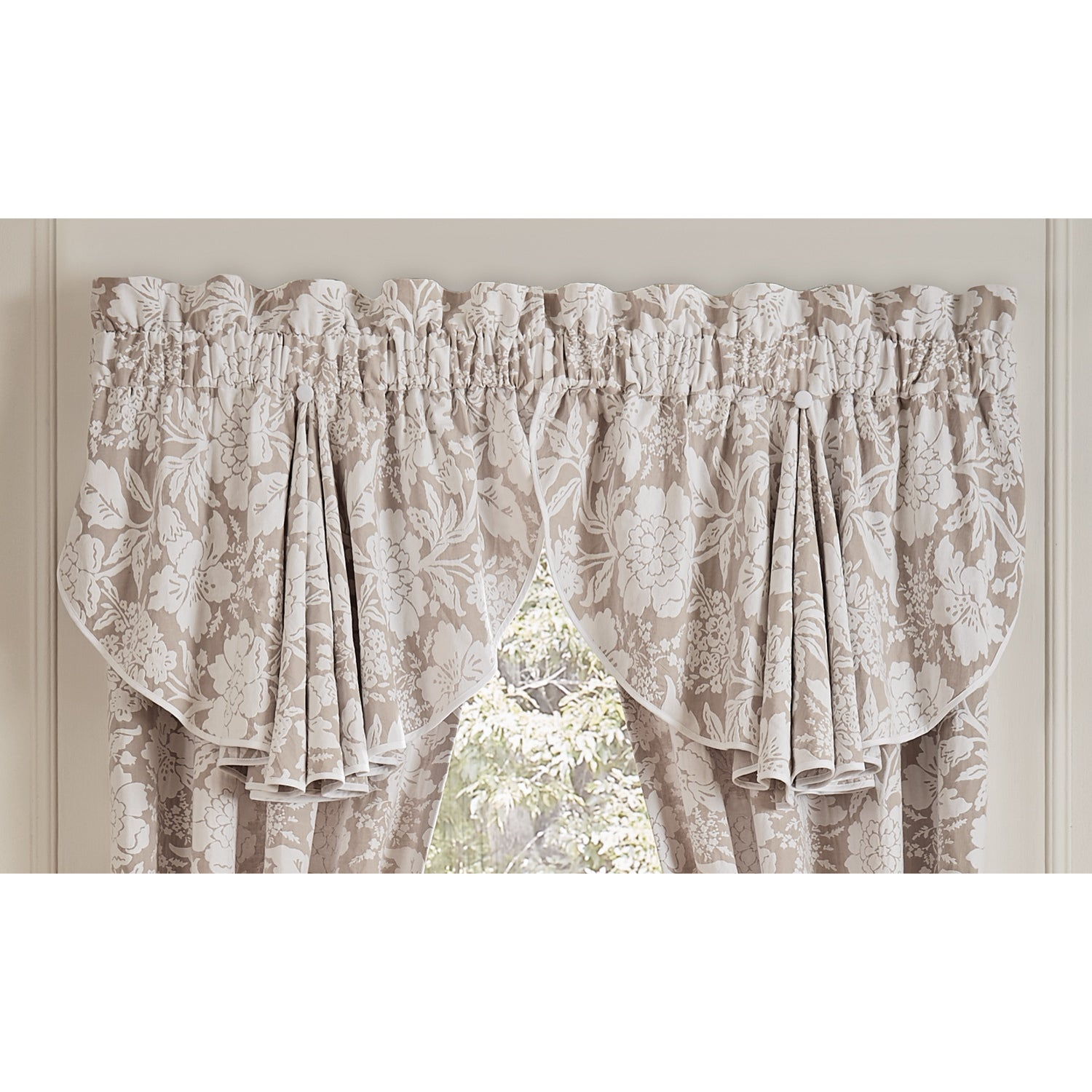 Nellie 42X24 Circle Curtain Valance – 42 X 24 Within Circle Curtain Valances (View 11 of 20)