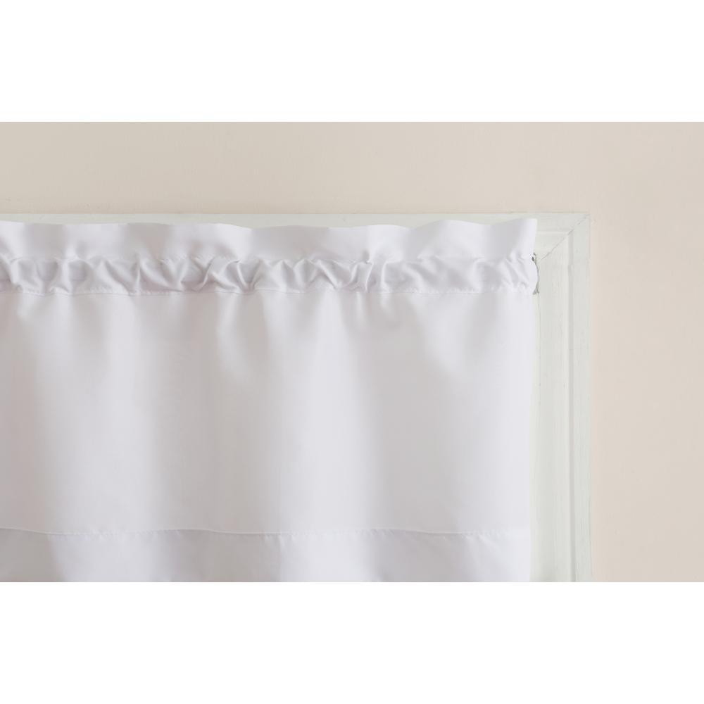 No. 918 Martine White Microfiber Kitchen Curtains (3 Piece Set) – 54 In. W X 36 In (View 12 of 20)