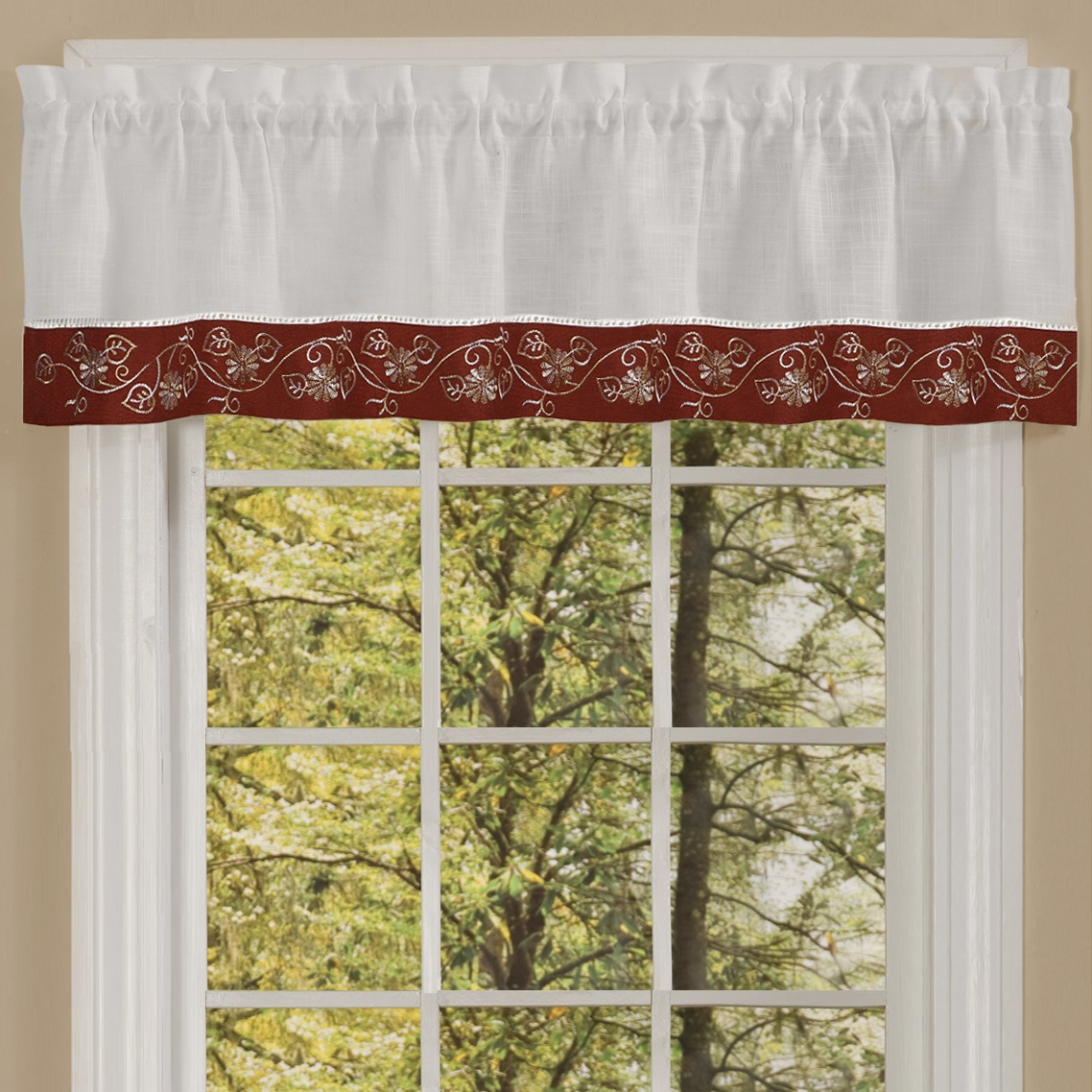 """Oakwood Linen Style Kitchen Window Curtain 58"""" X 36"""" Kitchen Curtains, Set Of 2, Natural For Oakwood Linen Style Decorative Curtain Tier Sets (View 5 of 20)"""