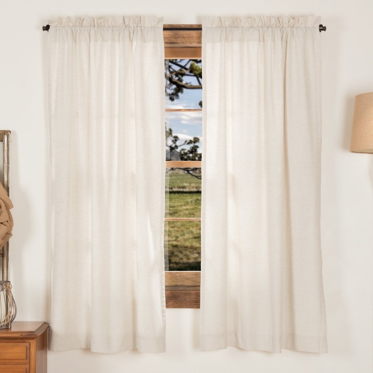 Petite Vhc Farmhouse French Country Curtains Simple Life In Simple Life Flax Tier Pairs (View 15 of 20)