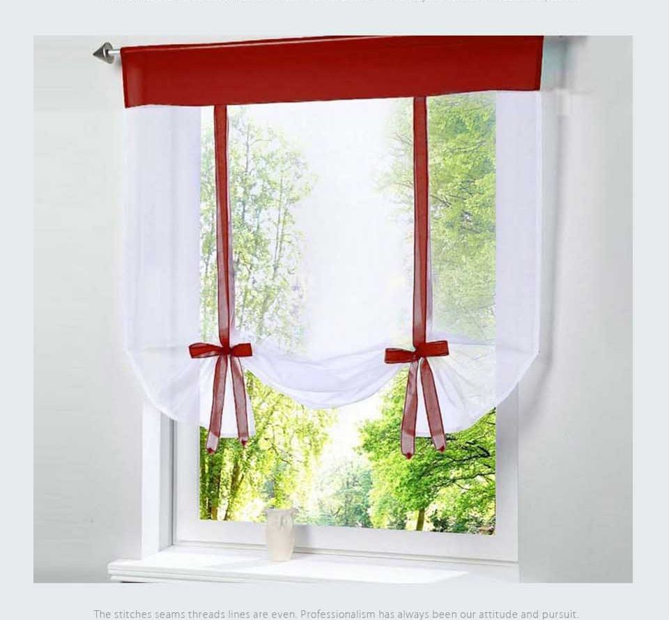 Pin On Kitchen Window Blinds with Maize Vertical Ruffled Waterfall Valance And Curtain Tiers (Image 9 of 20)