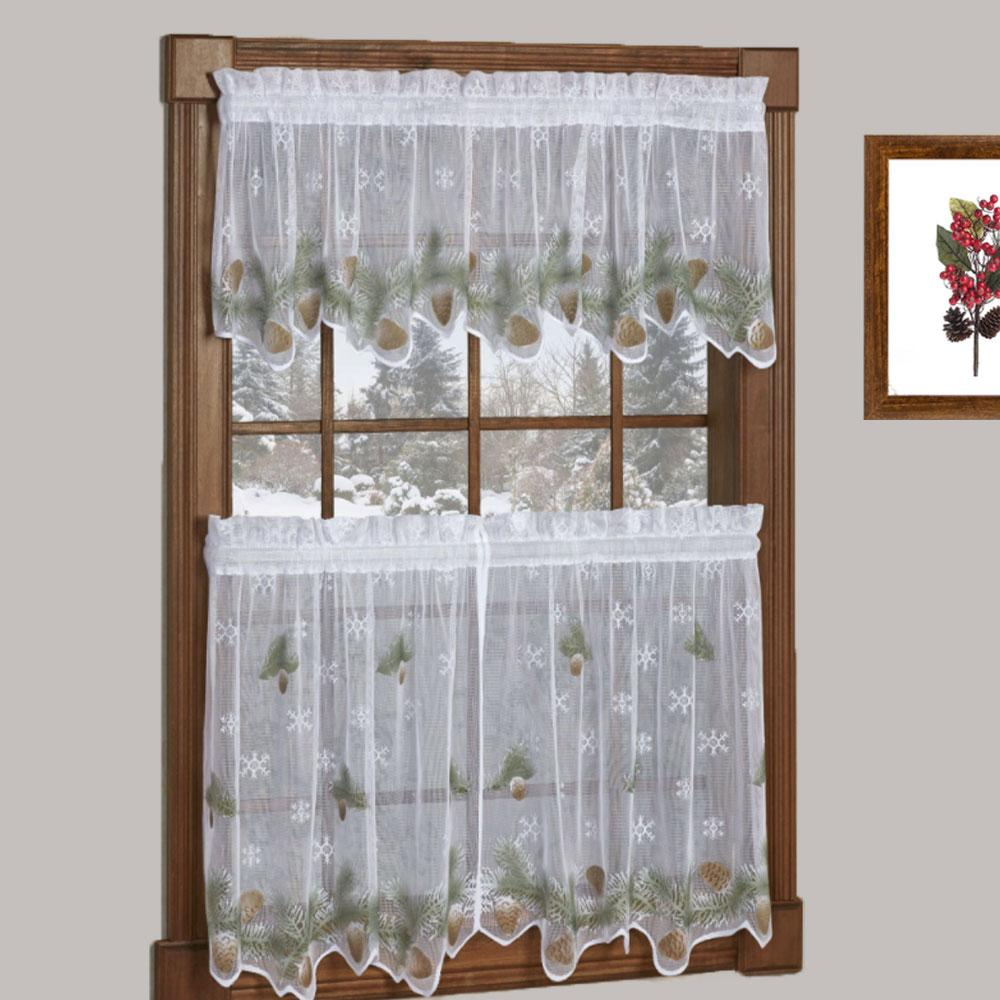 Featured Photo of Tree Branch Valance And Tiers Sets