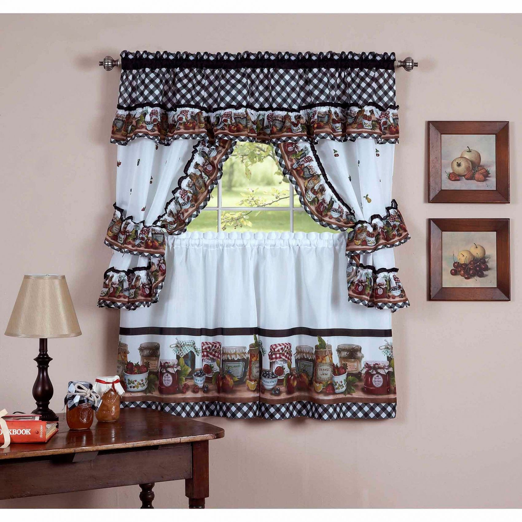 Pinrosanna Parks On Window Curtains Ideas In 2019 Inside Chateau Wines Cottage Kitchen Curtain Tier And Valance Sets (View 14 of 20)