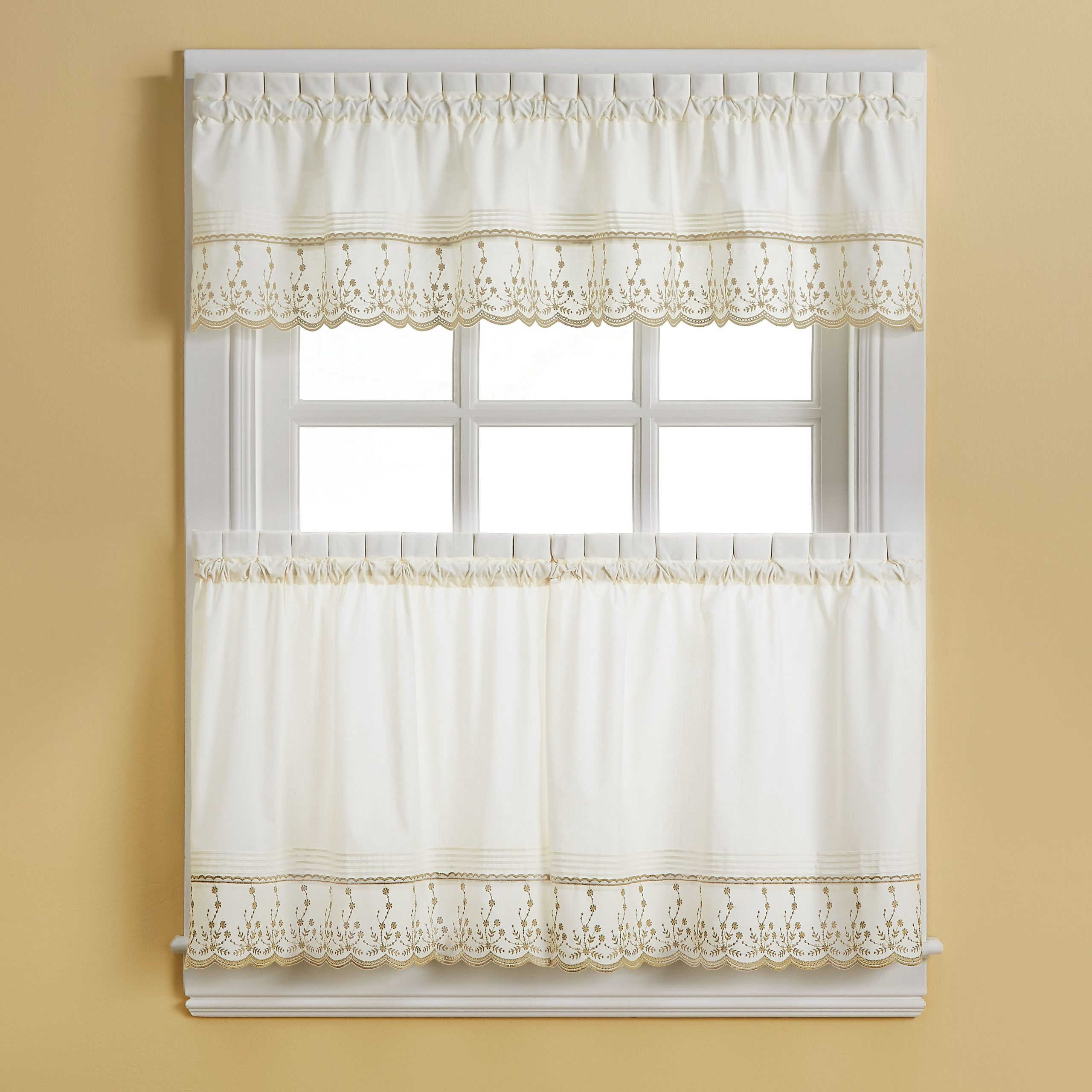 Pinterest For French Vanilla Country Style Curtain Parts With White Daisy Lace Accent (View 9 of 20)