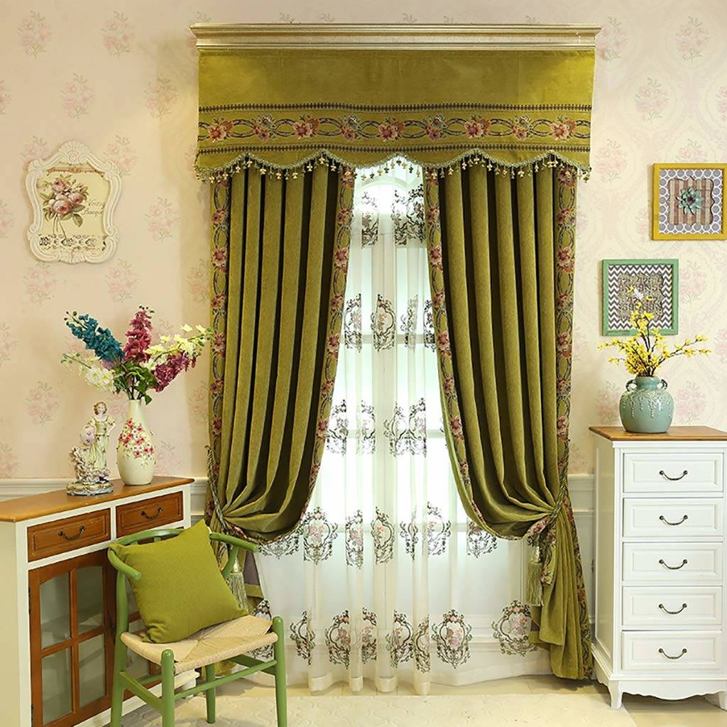 Pretty Country Lace Curtains Swags For Living Room Catalog Inside Country Style Curtain Parts With White Daisy Lace Accent (View 13 of 20)