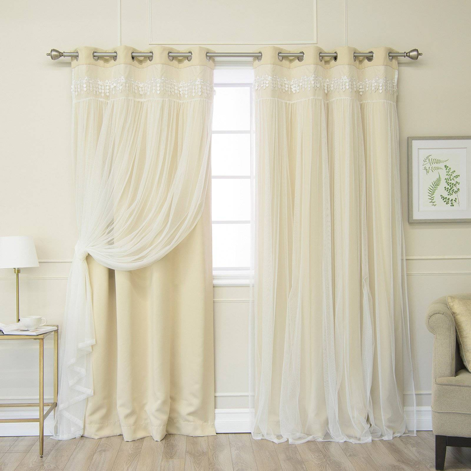 Pretty Country Lace Curtains Swags For Living Room Catalog Within Sheer Lace Elongated Kitchen Curtain Tier Pairs (View 17 of 20)