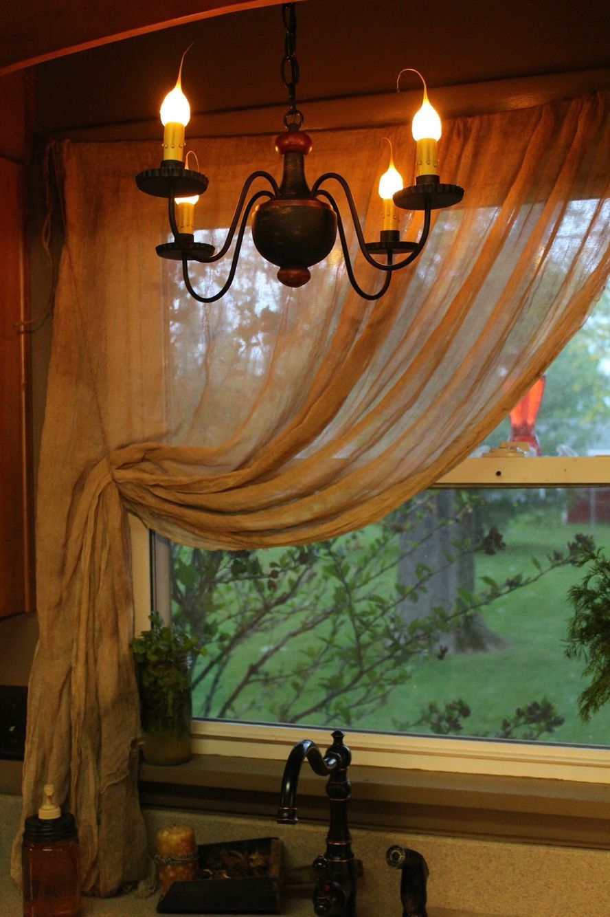 Primitive Cheesecloth Curtains | Primitive Curtains, Country For Primitive Kitchen Curtains (Gallery 5 of 20)