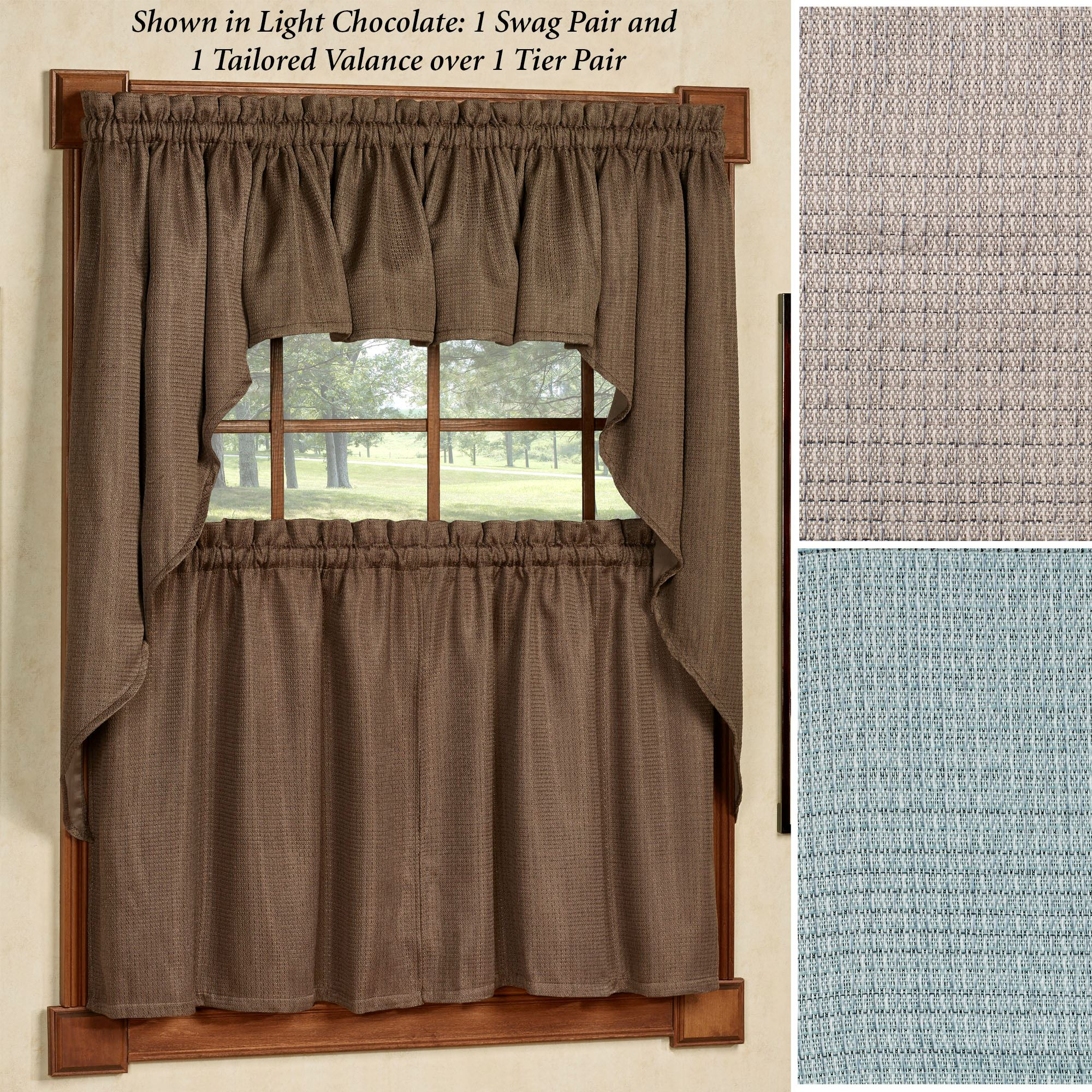Ralston Room Darkening Tier Window Treatment Regarding Tailored Valance And Tier Curtains (Gallery 14 of 20)