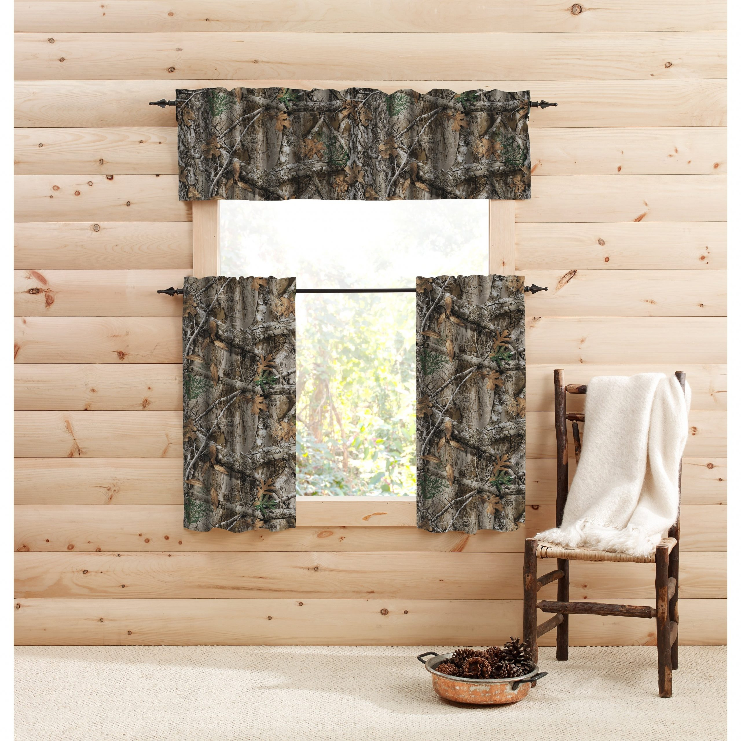 Realtree Edge Window Tier Pair – Tier Pair With Regard To Forest Valance And Tier Pair Curtains (View 11 of 20)