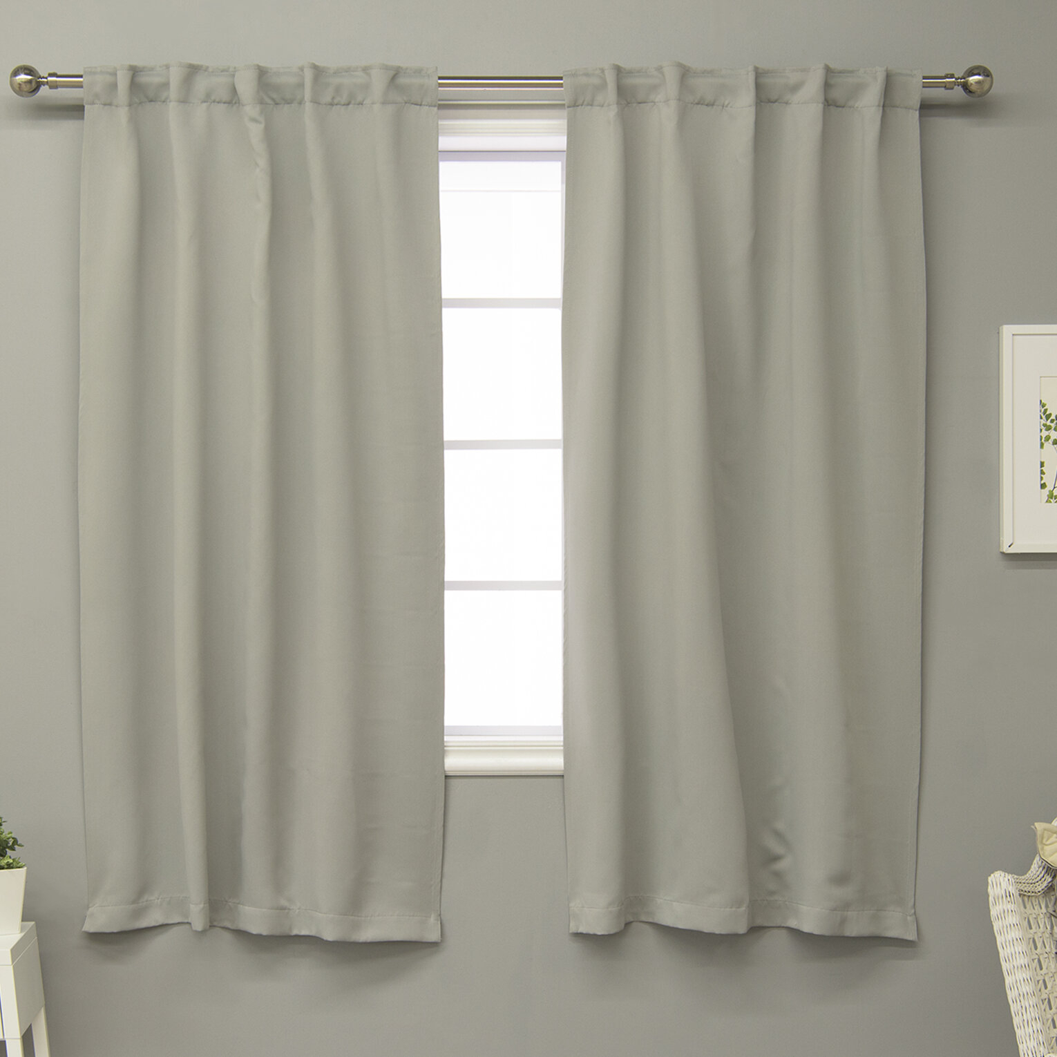 Rebeca Solid Blackout Thermal Rod Pocket Curtain Panels With Regard To Marine Life Motif Knitted Lace Window Curtain Pieces (View 15 of 20)