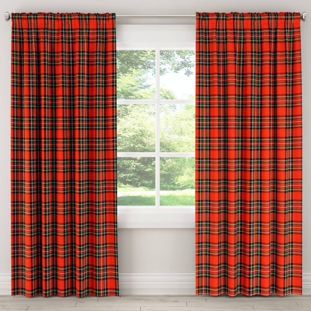 Red Plaid Curtain Panels – Scholam.live Within Class Blue Cotton Blend Macrame Trimmed Decorative Window Curtains (Gallery 13 of 20)