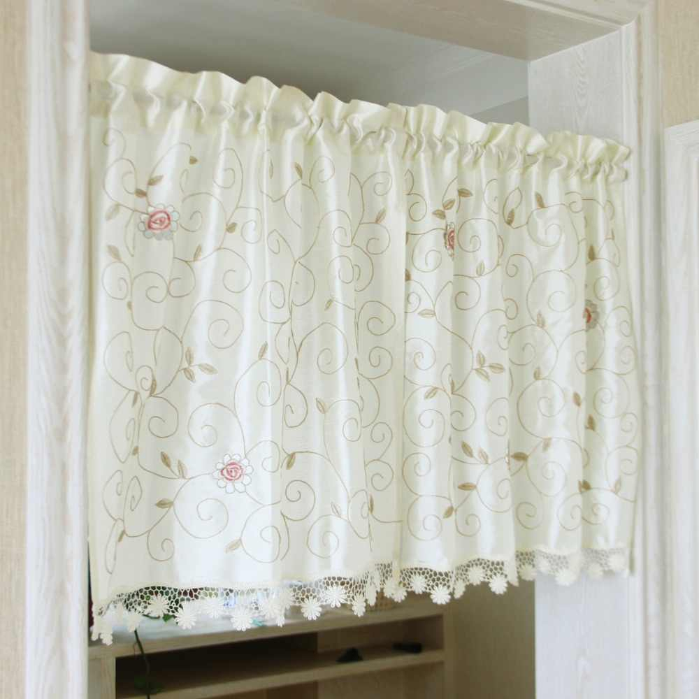 Red White Gingham Checkered Plaid Kitchen Tier Curtain Regarding Embroidered 'coffee Cup' 5 Piece Kitchen Curtain Sets (Photo 12 of 20)