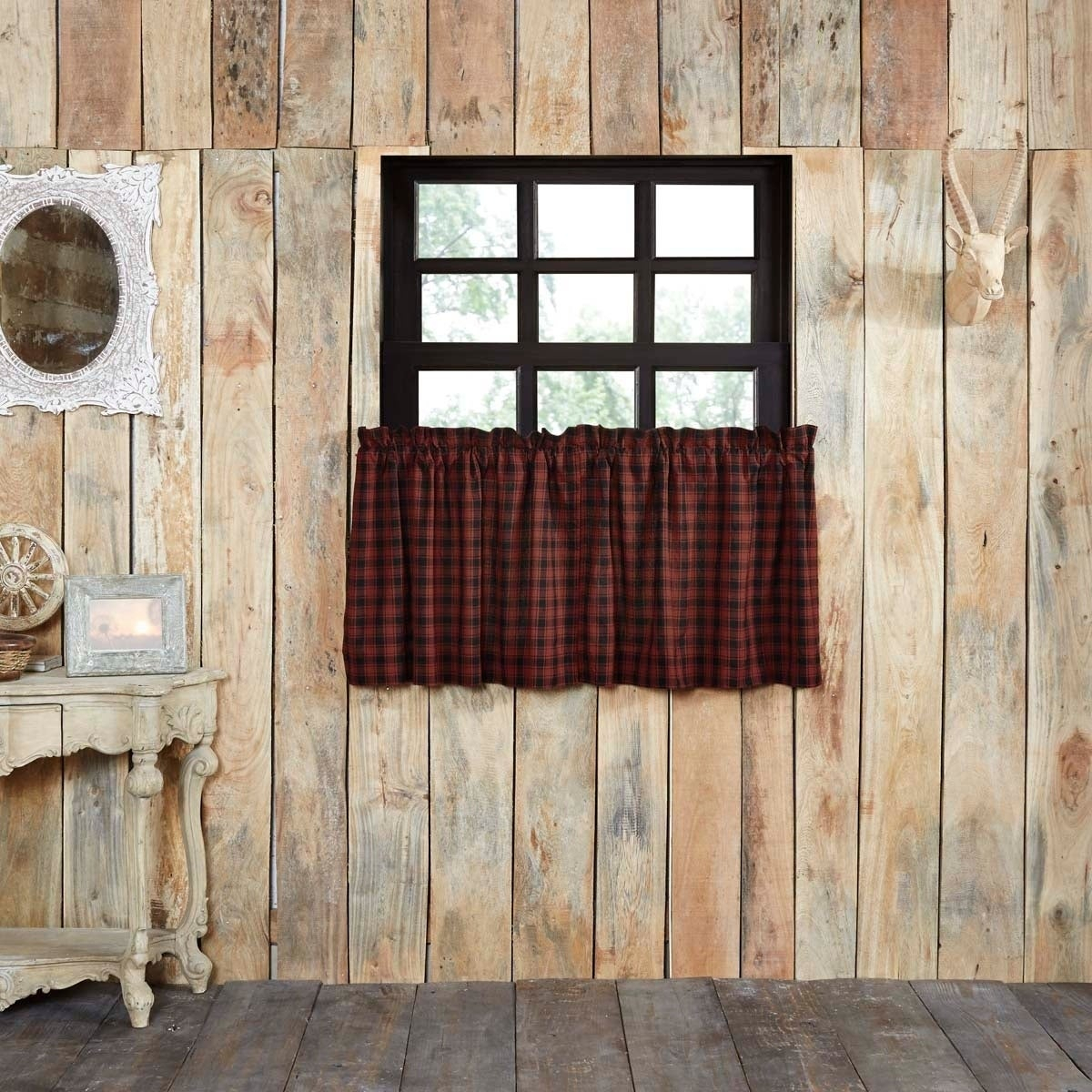 Red Window Treatments | Find Great Home Decor Deals Shopping Intended For Flinders Forge 30 Inch Tiers In Garnet (Gallery 16 of 20)