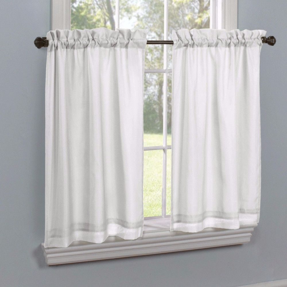 Rhapsody Lined Thermavoile Tailored Tier And Valance Within Wallace Window Kitchen Curtain Tiers (Gallery 10 of 20)