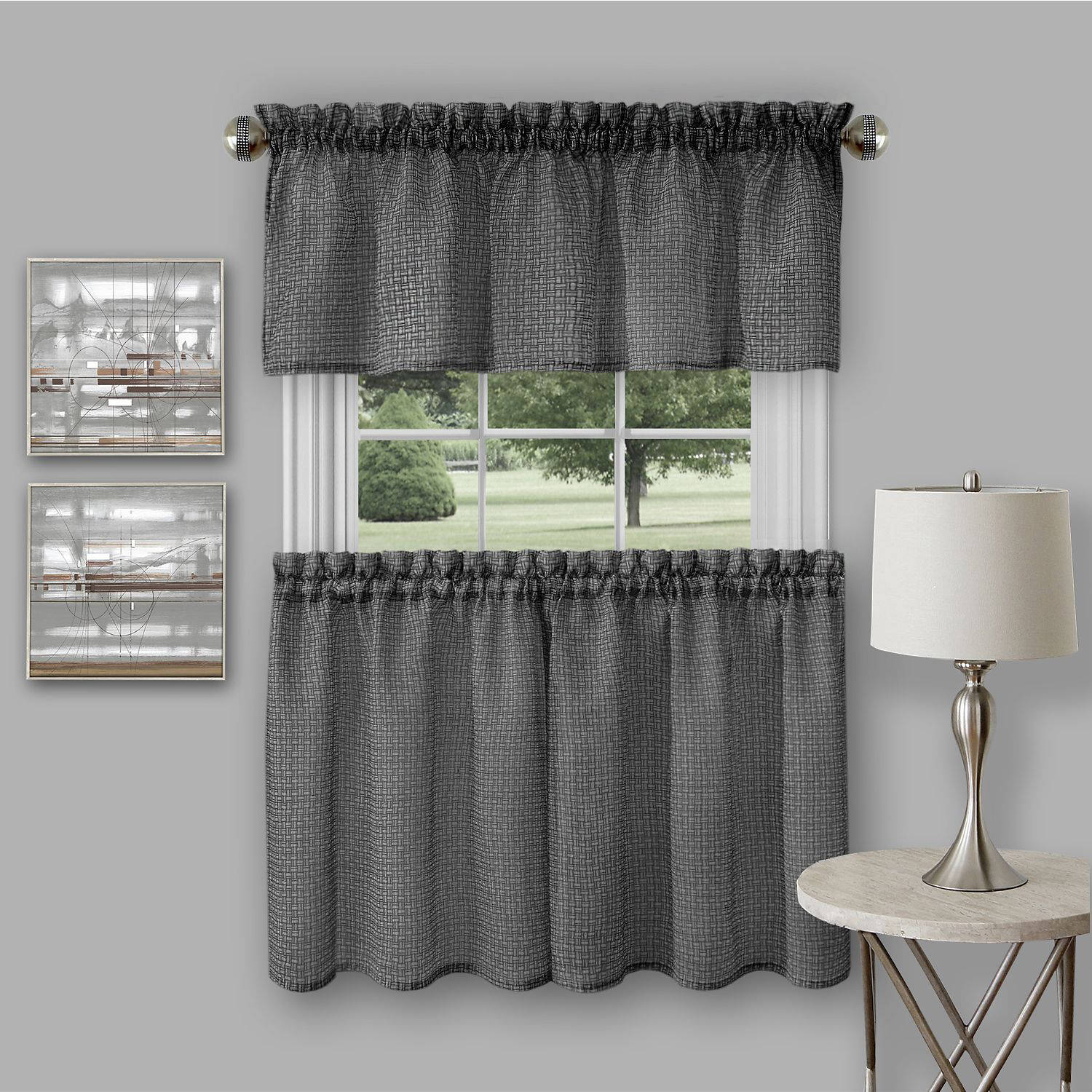 Richmond Window Kitchen Curtain Tier Pair And Valance Set With Light Filtering Kitchen Tiers (Gallery 11 of 20)